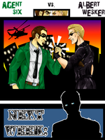Wesker vs Six -Crossover SD promo- by nupao