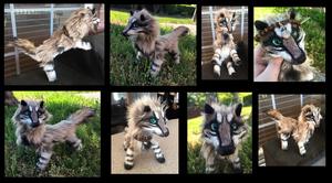 Tyger the Tibetan Wolf OOAK Posable Art Doll 2 by AmethystCreatures