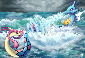 Water Battle by MizterSiah