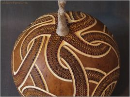 Hanging gourd lamp III - day 3 by Calabarte