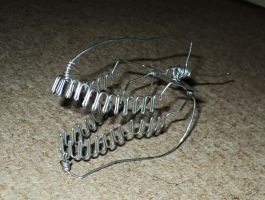 UNFINISHED T-REX HEAD in wire by TheWallProducciones