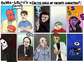 Favorite Characters by Bubba-Smith