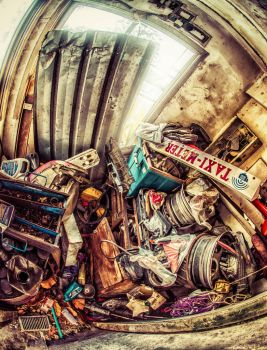 Car parts storage HDR by Tairenar