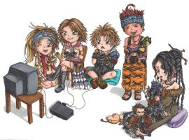 Final Fantasy X Fun by paper-flowers