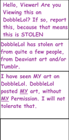 Warning to DobbleLol viewers by Warriorcatdragon