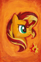 Sunset Shimmer Painting by Nokills-Clan196