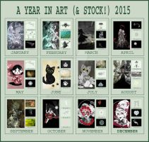 A Year in Art (and Stock) meme 2015 by rockgem