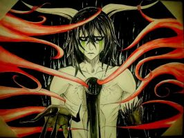 Ulquiorra: Save me, give me your love.. by Shira-inochi