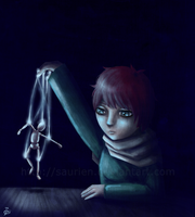 Playing with puppets by saurien