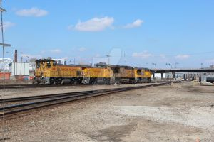 Union Pacific Light engine move. by Railphotos