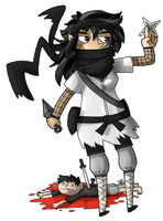 Lou is a ninja by ZeTrystan