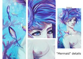 Mermaid details by soanvalentine