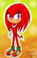 Gift for Knuckles-artist-girl :3 by TempestMoonXx