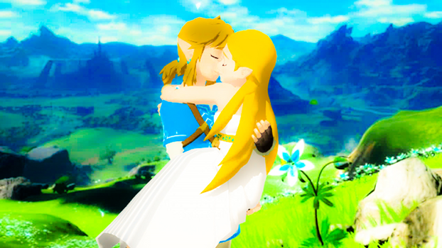 Link and Zelda BotW True Ending Kiss Forever.Dream by 9029561