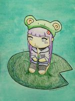 Chibi Hinata with Frog Hat by Jadesandwich