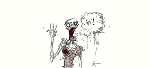 Little fast sketch of zombie by NoOneElseThanEya