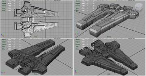 Starfarer's Battlecruiser WIP III by PyrZern