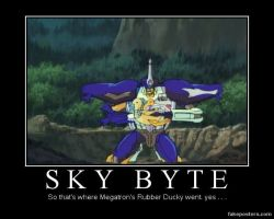 Transformers Sky-Byte Rubber Ducky by Onikage108
