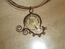 Wire Cog Necklace by DemoraFairy