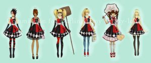 Harley Quinn Pinafore Commission for DarlingArmy by lady-leliel