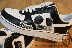 Mission: Ethiopia Nike AF1s 2 by PattersonArt