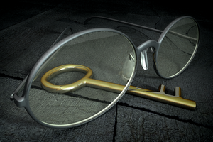 Eyeglasses and a key by muk1