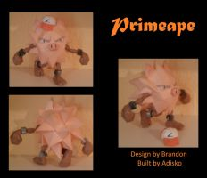 Paper Pokemon Primeape by Adisko