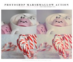 Photoshop Marshmallow Actions by lieveheersbeestje