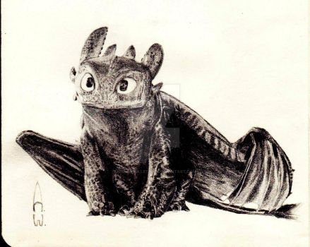 Toothless by SilverBulletArt