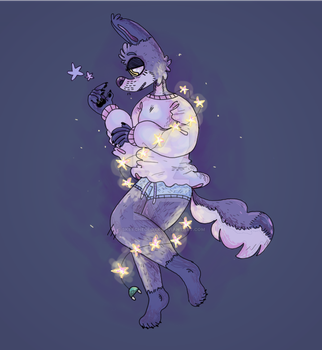 Starry gal by TacoFoxArt