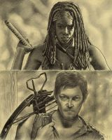Sketchbook 39: The Walking Dead fanart by MJWilliam
