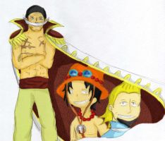 Crew of Shirohige-three fallen by Ally-Nad