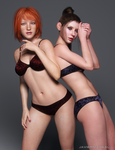 Ailish and Kat by JavierMicheal