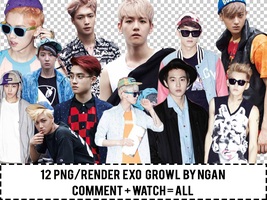 [Render/PNG] Pack PNG EXO Growl By Ngan by Ngan-Ng2