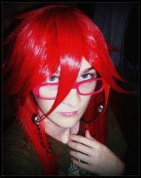Styled Grell Wig by Cosplayer-Inochi