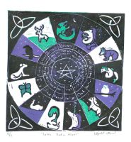 Celtic Zodiac Wheel by Icetigris