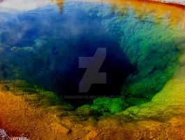 Morning Glory Pool Yellowstone by DogofSkye