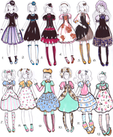 Goth VS Sweet Lolita designs -CLOSED - by bejja