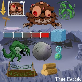 'The Book' Sprite Sheet - Global Game Jam 2016 by rabbcl
