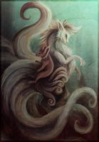 Vulpix and Ninetales by Lyswen