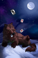 Play your cards right - commis by Grypwolf