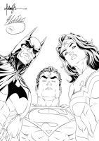 Batman, Superman, Wonderwoman Ink #1 by SWAVE18