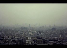 Paris Cityscape by LucienWittwer