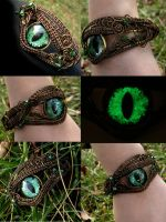 Custom Bracelet - Bronze Forest to Shadow Eye by LadyPirotessa