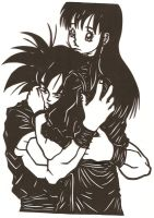 Hold Me Close Papercut by usagisailormoon20