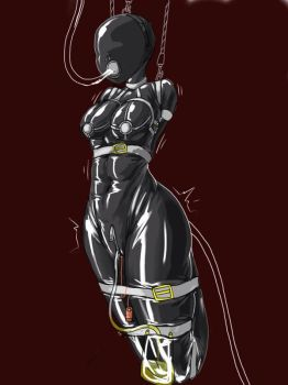 Full bondage catsuit by Tiasti