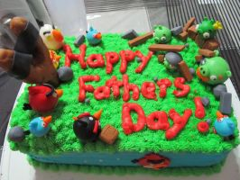 Angry Birds Fathers Day Cake by Leara