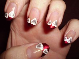 Valentine's day French tips by shadowcat-666