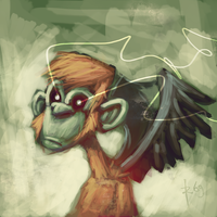 flying monkey by robiant