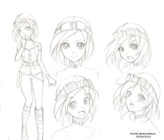 Christine - Model Sheet - Sketch by yuukitaachi